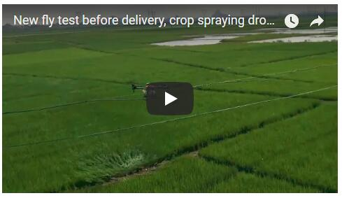 New fly test before delivery, crop spraying drone