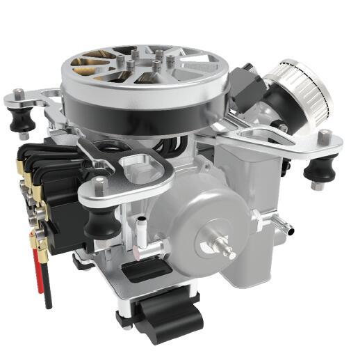 EFI hybrid 6000W drone generator aerospace extender